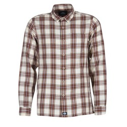Textiel Heren Overhemden lange mouwen Dickies HARRELL Wit / Brown