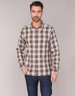 Textiel Heren Overhemden lange mouwen Dickies HARRELL Wit / Brown