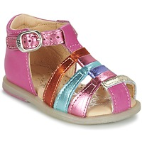 Schoenen Meisjes Ballerina's Babybotte TIKALOU Roze / Multikleuren