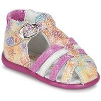 Schoenen Meisjes Sandalen / Open schoenen Babybotte GUPPY Roze / Multikleuren
