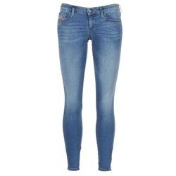 Textiel Dames Skinny Jeans Diesel SKINZEE LOW ZIP Blauw / 0681p