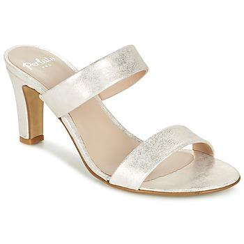 Schoenen Dames Leren slippers Perlato ADINILE Zilver