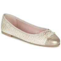 Schoenen Dames Ballerina's Pretty Ballerinas AMI Goud / Roze