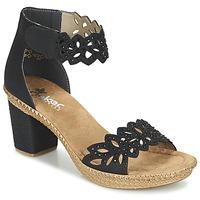 Schoenen Dames Sandalen / Open schoenen Rieker POTIRASSE Zwart