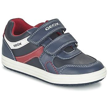 Schoenen Jongens Lage sneakers Geox J VITA A Marine / Rood