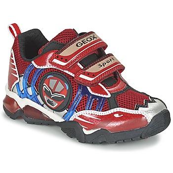 Schoenen Jongens Lage sneakers Geox J SHUTTLE B. B Rood