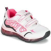 Schoenen Meisjes Lage sneakers Geox J ANDROID G. A Wit / Roze