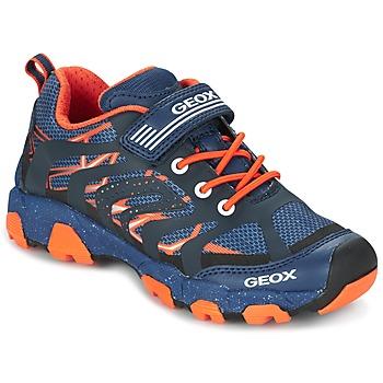 Schoenen Jongens Lage sneakers Geox J MAGNETAR B. A Marine / Orange