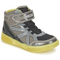 Schoenen Jongens Hoge sneakers Geox J ARGONAT B. B Grijs / Citroen