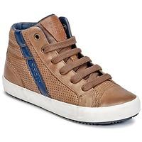Schoenen Jongens Hoge sneakers Geox J ALONISSO B. B Cognac