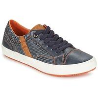 Schoenen Jongens Lage sneakers Geox J ALONISSO B. A Marine / Brown