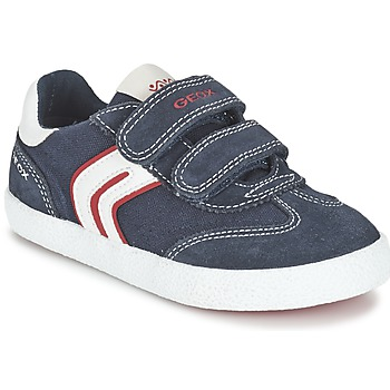 Schoenen Jongens Lage sneakers Geox J KIWI B. M Marine / Rood