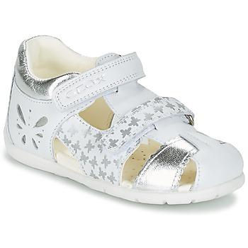 Schoenen Meisjes Sandalen / Open schoenen Geox B KAYTAN G. C Wit / Zilver