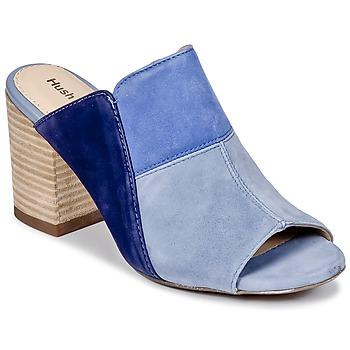 Schoenen Dames Leren slippers Hush puppies SAYER Blauw