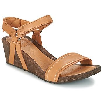 Schoenen Dames Sandalen / Open schoenen Teva YSIDRO STITCH WEDGE Cognac