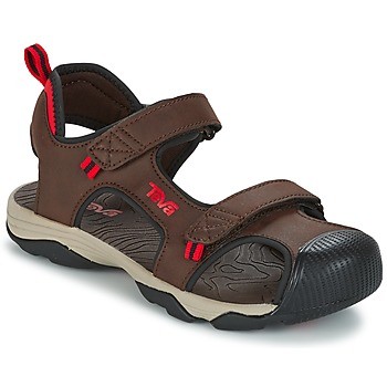Schoenen Jongens Outdoorsandalen Teva TOACHI 4 Brown / Zwart / Rood