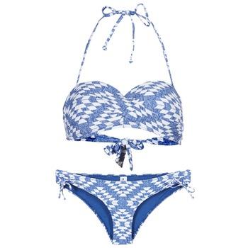 Textiel Dames Bikini's Rip Curl DEL SOL BANDEAU SET Blauw / Wit
