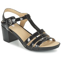 Schoenen Dames Sandalen / Open schoenen Geox D SYMI C Zwart