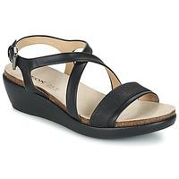 Schoenen Dames Sandalen / Open schoenen Geox D ABBIE A Zwart