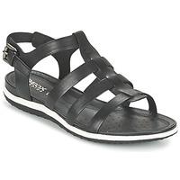 Schoenen Dames Sandalen / Open schoenen Geox D SAND.VEGA A Zwart