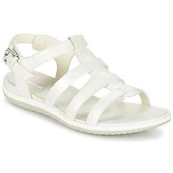 Schoenen Dames Sandalen / Open schoenen Geox D SAND.VEGA A Wit