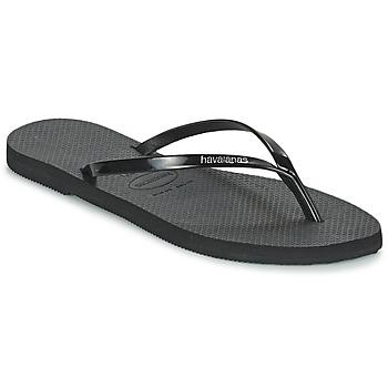 Schoenen Dames Slippers Havaianas YOU METALLIC Zwart