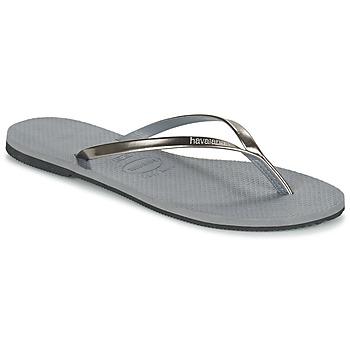 Schoenen Dames Slippers Havaianas YOU METALLIC Grijs