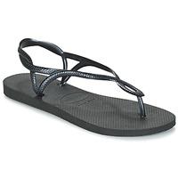 Schoenen Dames Slippers Havaianas LUNA Zwart