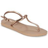 Schoenen Dames Sandalen / Open schoenen Havaianas FREEDOM Roze / Goud