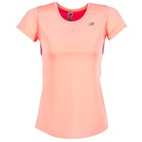 Textiel Dames T-shirts korte mouwen New Balance ACCELERATE T CORAIL