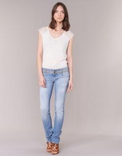 Textiel Dames Straight jeans Le Temps des Cerises 220 Blauw / CLAIR