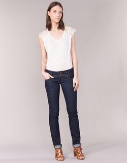 Textiel Dames Straight jeans Le Temps des Cerises 220 Blauw / Brut