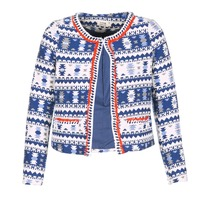 Textiel Dames Jasjes / Blazers Molly Bracken BERIP Marine / Wit / Orange