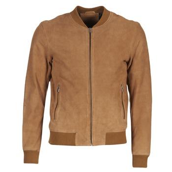 Textiel Heren Leren jas / kunstleren jas Selected MARK  CAMEL