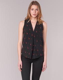 Textiel Dames Tops / Blousjes Les P'tites Bombes MERVINE Zwart / Rood