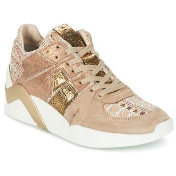 Schoenen Dames Hoge sneakers Serafini CHICAGO Beige / Goud