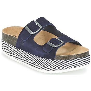 Schoenen Dames Leren slippers Betty London GRANJY Marine