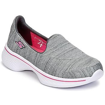 Schoenen Meisjes Instappers Skechers GO WALK 4 Grijs