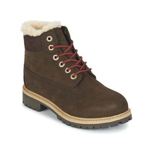 Schoenen Kinderen Laarzen Timberland 6 IN PRMWPSHEARLING Brown