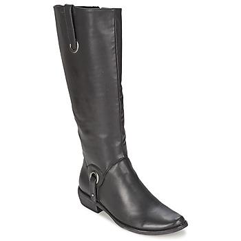 Schoenen Dames Hoge laarzen Les P'tites Bombes ADAGIO Zwart