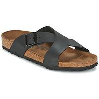 Schoenen Heren Leren slippers Birkenstock TUNIS Zwart