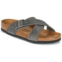 Schoenen Heren Leren slippers Birkenstock TUNIS Grijs