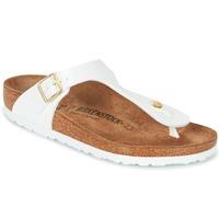 Schoenen Dames Slippers Birkenstock GIZEH Wit / Goud