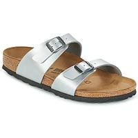 Schoenen Dames Leren slippers Birkenstock SYDNEY Zilver