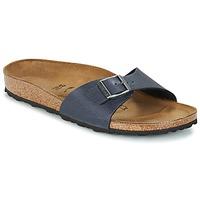 Schoenen Dames Leren slippers Birkenstock MADRID Marine
