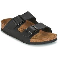 Schoenen Kinderen Leren slippers Birkenstock ARIZONA Zwart
