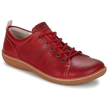Schoenen Dames Derby Birkenstock ISLAY Rood