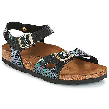 Schoenen Kinderen Sandalen / Open schoenen Birkenstock RIO Zwart / Brillant / Serpent