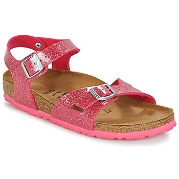 Schoenen Kinderen Sandalen / Open schoenen Birkenstock RIO Roze / Pailleté