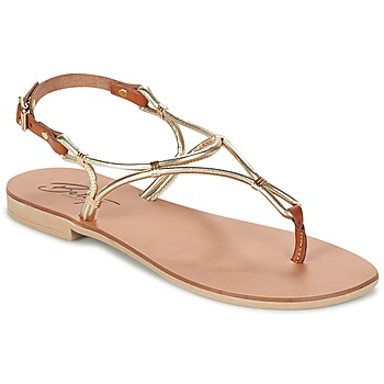 Schoenen Dames Sandalen / Open schoenen Betty London GARDO Goud /  CAMEL